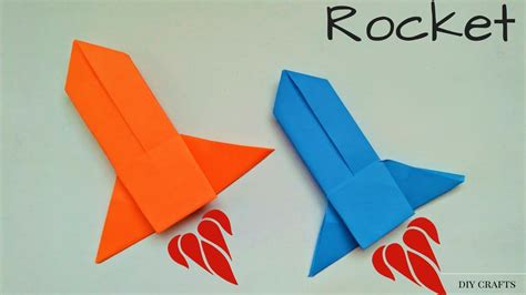 Origami Spaceship - origami rocket how to make a paper rocket launcher