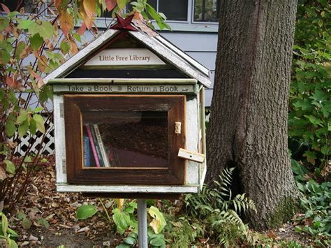 book house little free library tiny house shaped boxes let you take a book or leave one little