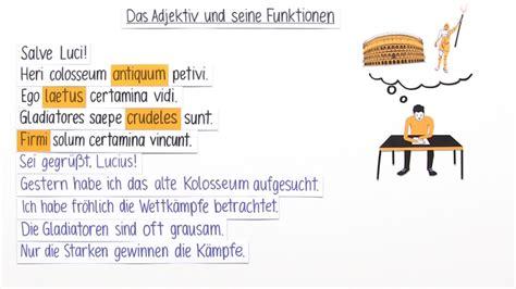 haus latein adjektive und ihre funktionen latein lernen