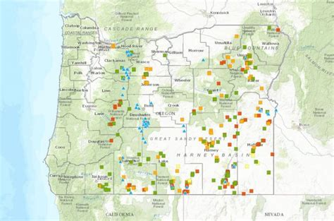 interactive map of oregon interactive map of geothermal and springs in oregon