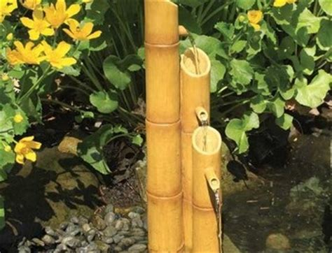 bamboo aquascape aquascape pouring three tier bamboo fountain w pump decorative water features