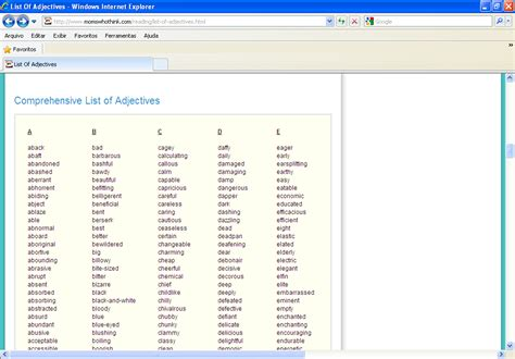 teaching and translating with quality lista de adjetivos list of adjectives