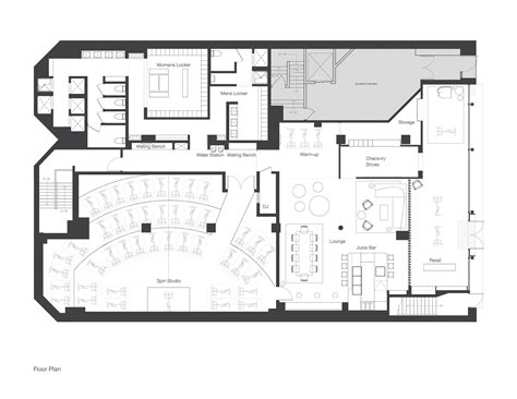 fitness center floor plan design indoor cycling studio interior design idea home