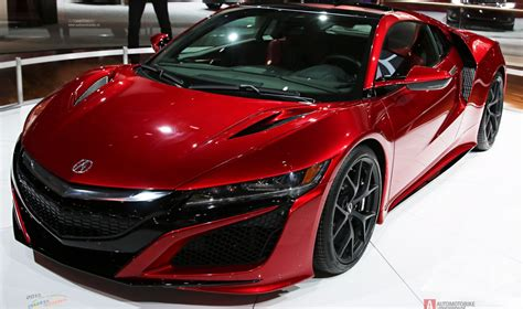 special model of the acura nsx supercar at the auto show