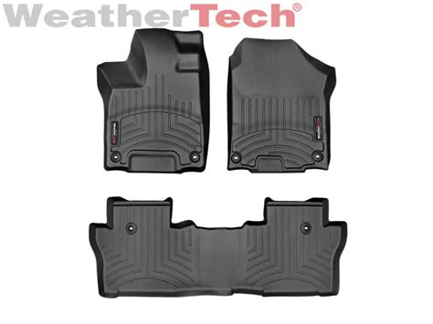 weathertech floor mat floorliner for honda pilot 2016 2017 black ebay