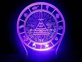 Color Changing Night Light Handmade Gravity Falls Bill Cipher Wheel Lamp Night Light