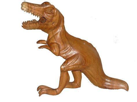 dinosaur  rex wood carving home gifts garden