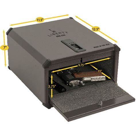 liberty hdx 250 smartvault biometric handgun pistol safe