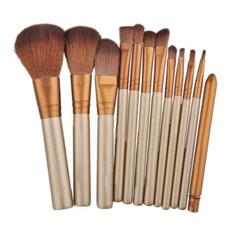 Brush Set Kuas Set by Make Up Brush 12 Set With Tin Kuas Make Up