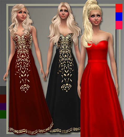 style holiday gowns sims  downloads