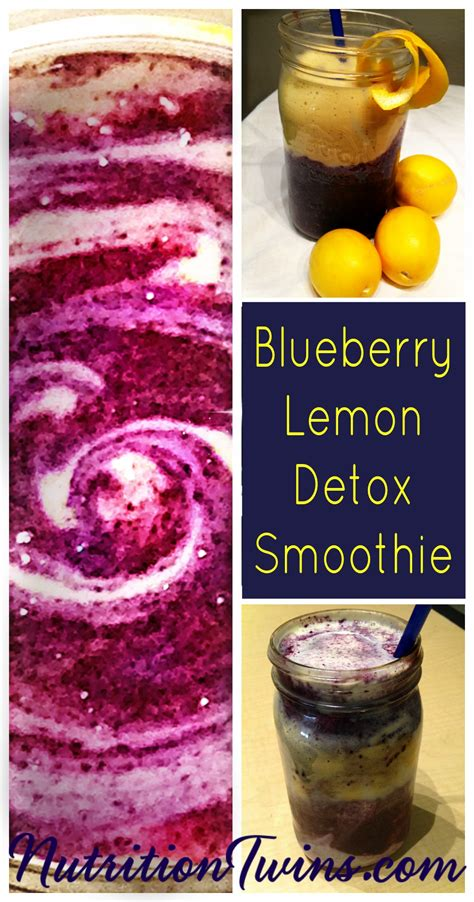 Strawberry Blueberry Detox Smoothie by Blueberry Lemon Morning Detox Smoothie Nutrition