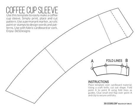 coffee cup sleeve template 365 designs new mccaf 233 single brew coffee with printable
