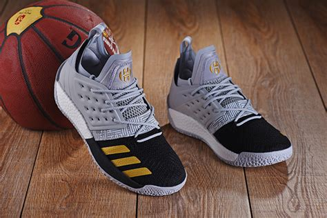 fashion 2018 adidas harden vol 2 low s shockproof basketball shoes black grey