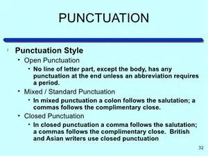 business letter salutation punctuation letter writing
