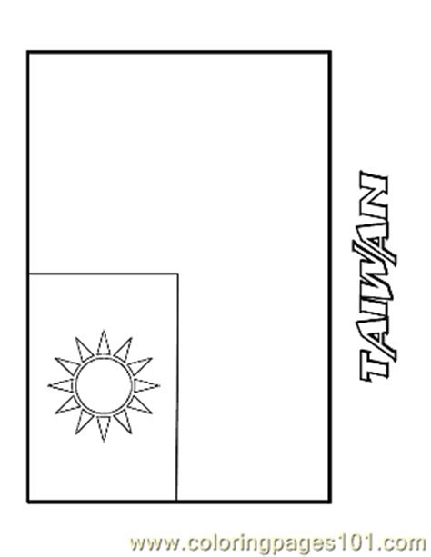 coloring pages taiwan education gt flags free printable