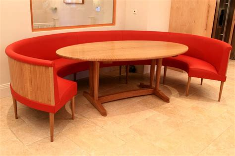round table and bench dining set leather banquette l shaped banquette