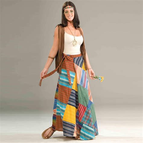 Hippie Patchwork Clothing - hippie clothing patchwork wrap skirt