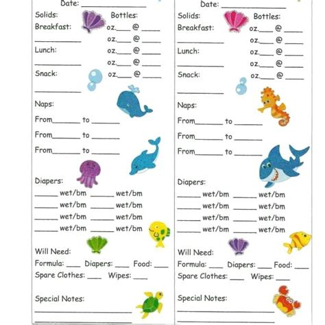 Child Care Daily Report Template