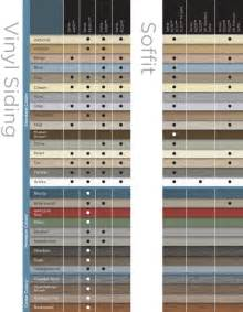 vinyl siding color chart mastic vinyl siding color chart quotes