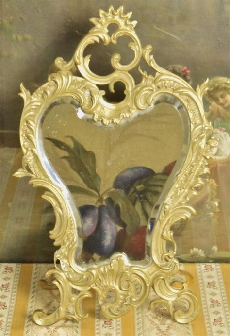 P114   Beautiful Antique French Rococo Style Brass