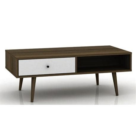 Walnut And White Coffee Table Coffee Table Walnut White