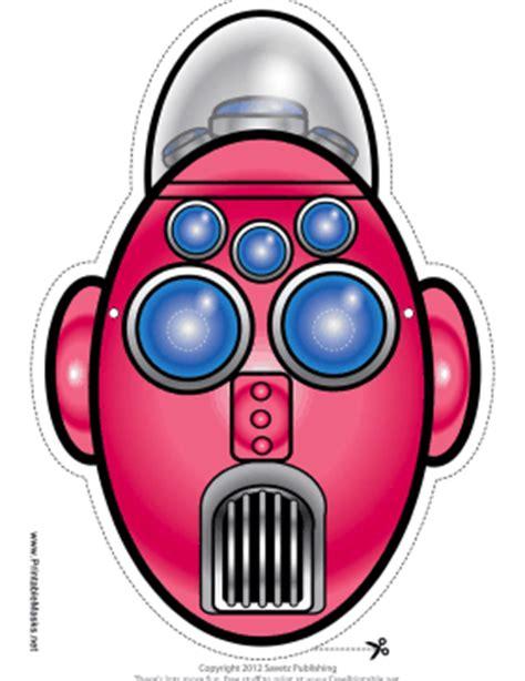printable robot eyes printable tall oval robot mask mask