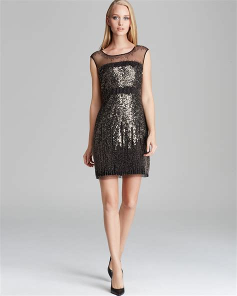 dress cap sleeve beaded sequin gown papell dress cap sleeve illusion neckline sequin