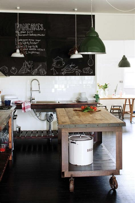 Industrial Style Kitchen Units by Industrial Metal And Wooden Topped Kitchen Island On