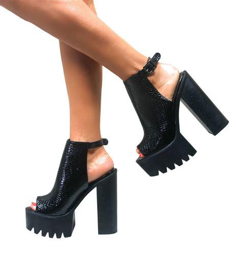 Murano Wedges Heels 7 Cm 2 womens cleated sole chunky heels block platform
