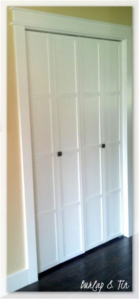 4 panel bifold closet doors remodelaholic 40 ways to update flat doors and bifold doors