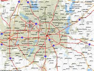 dallas on map map dallas and surrounding area