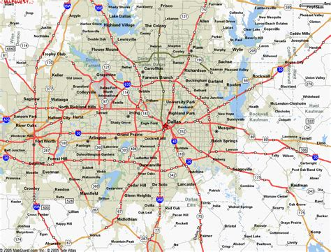 map dallas texas surrounding area texas map dallas and surrounding area