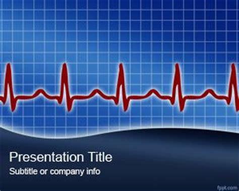 Free Cardiology Rhythm Power Point Template Cardiac Ppt Template