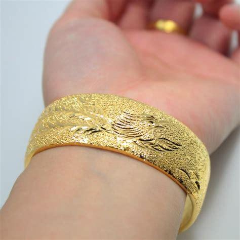 Bangle Hongkong 24k 10 730 Gram gold plated bracelet bridal wedding jewelry wedding