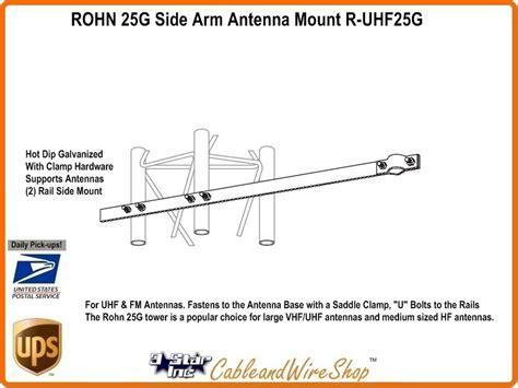 rohn  side arm antenna mount  uhfg  star incorporated