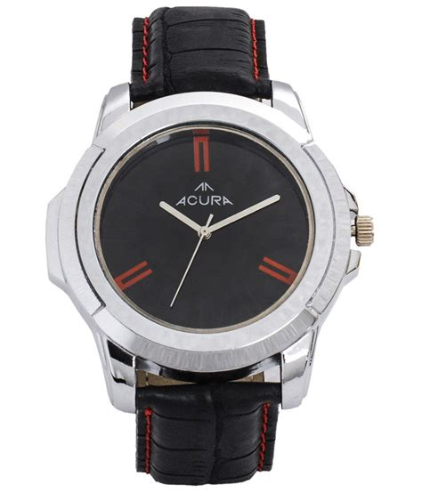 acura watches acura black leather wrist buy acura black leather