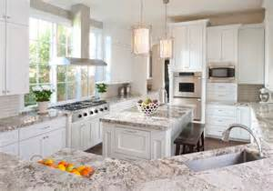 Kitchen Cabinets And Granite Stunning White Textured Granite Countertop For Classic