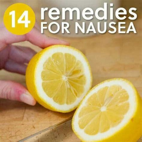 nausea diy remedies