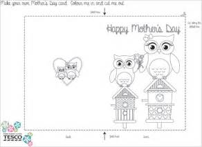 Mothers Day Cards Templates by My Owl Barn Printable S Day Coloring Card Templates
