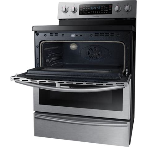 bottom drawer on electric oven samsung ne59j7850ws aa 30 quot electric smooth top range 5 9