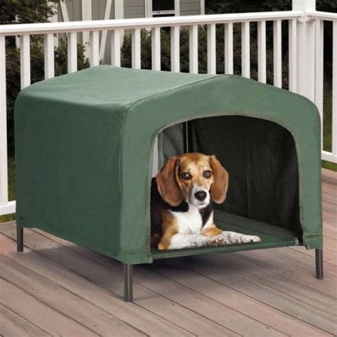portable outdoor dog house elevated covered doggy