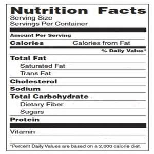 nutrition facts label template my wallpaper