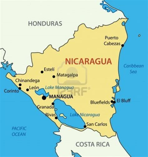 imagenes satelitales nicaragua 15086439 republica de nicaragua mapa vectorial first