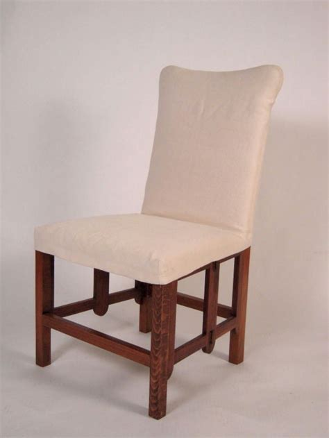 set   campaign style folding upholstered dining chairs  stdibs