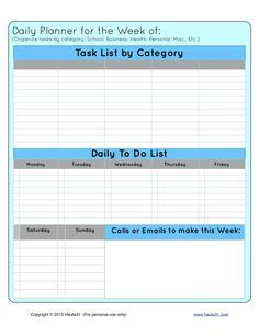 weekly priorities template thriving plans free printable template