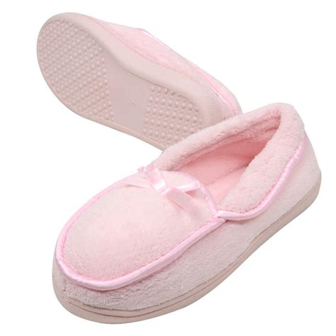 pink satin slippers soft cosy terry towelling slippers with satin