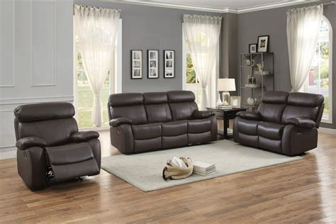 top grain leather reclining sofa homelegance pendu reclining sofa set top grain leather