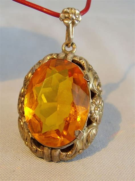 16 88 Ct Citrine Memo large pendant with madeira citrine approx 35 ct catawiki