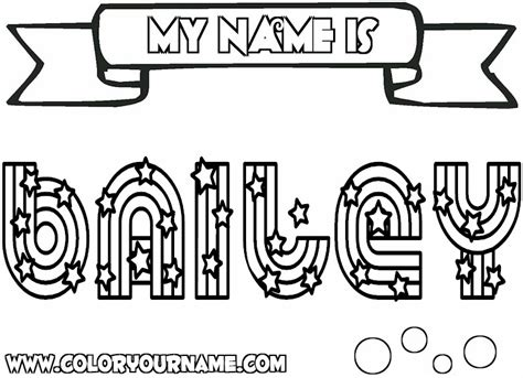 printable name coloring pages bailey