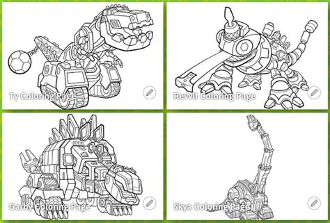 dino truck coloring page dinotrux netflix original series coming soon thrifty jinxy